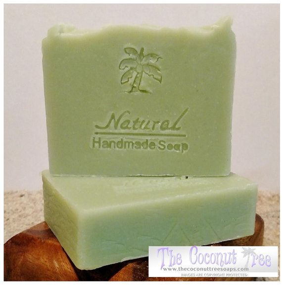 """DESCRIPTION/USES:  TEA TREE ESSENTIAL OIL: Benefits include being one of the best antibacterial ingredients you can find, in addition to controlling  Athletes feet, acne, antibiotic, insect bites and itch.    INGREDIENTS:  Coconut oil, Olive oil, Avocado oil, Palm oil & Castor oil, Shea Butter and Cocoa Butter, Tea Tree Essential Oil    BAR INFORMATION:  Size: 3.5"""" x 3"""" x 1""""  Approx Weight: 4-.5 - 5.5oz  Colors (If applicable): Mica  Scents: Essential Oils and/or Body Safe Fragrance    NOT…"""