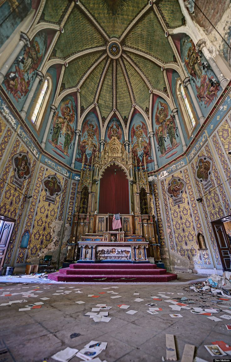 "This Pennsylvania church lies empty, waiting for the people to return. Though probably unintentional, that American flag replacing the Crucifix above the Tabernacle should tell us something about our priorities: we should want God to bless America. But we shall have no strange gods before Him. What also do we mean by ""God""? In having become what Ross Douthat calls ""a nation of heretics"" where ""bad religion"" abounds, are we so sure that we do know?"