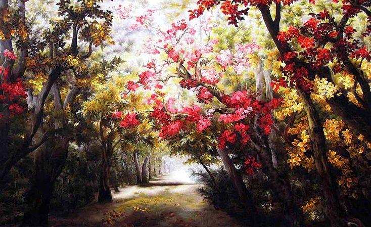 levkonoe: Phong Canh Волшебный лес