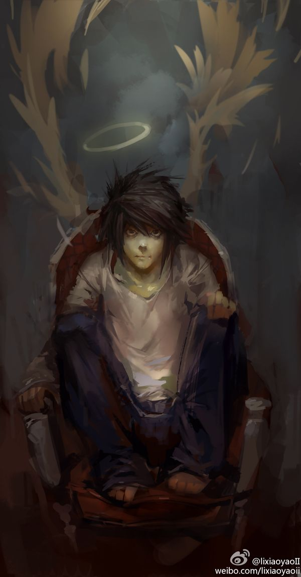 lixiaoyaoII - Death Note - L beautiful work here artist (I'm on team L in this series if anyone is curious-and also have a girl version personality of him also.)