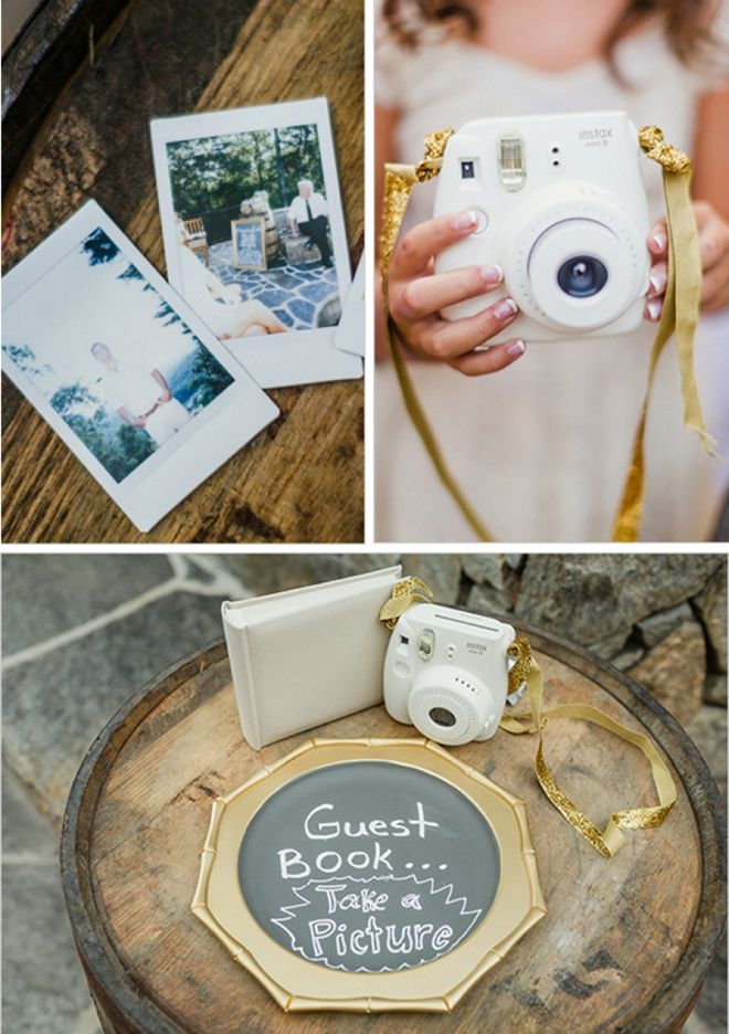 Polaroid Instax Guest Book with gold accents!