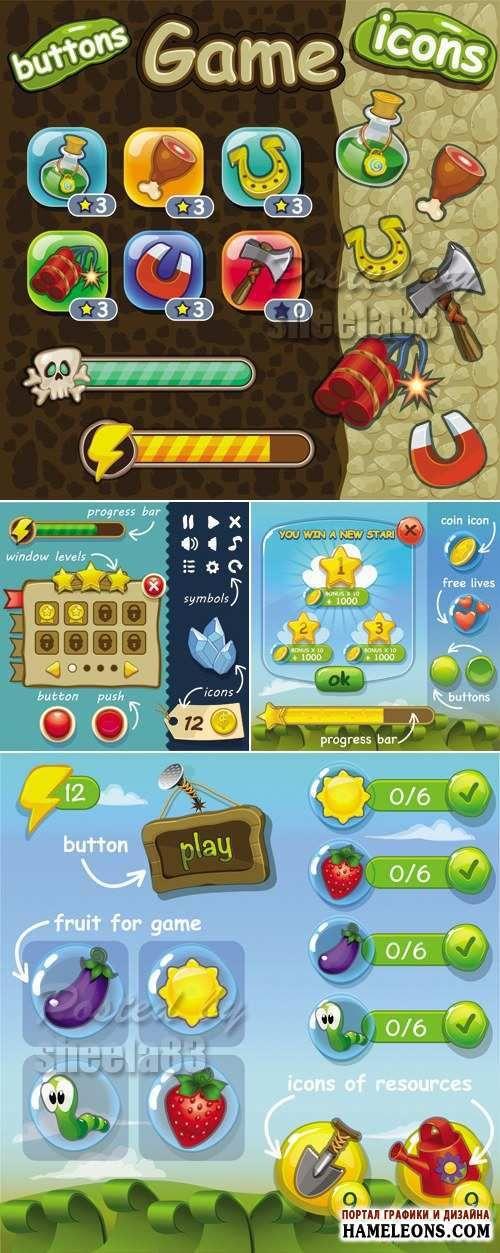 Шаблоны для игр - Векторный клипарт | Game Templates Vector