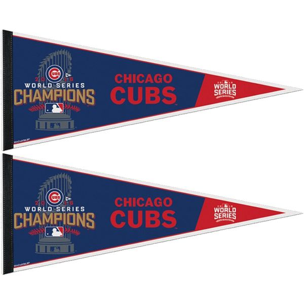 Chicago Cubs 2016 World Series Champions Pennant  #ChicagoCubs #Cubs #FlyTheW #WorldSeries SportsWorldChicago.com
