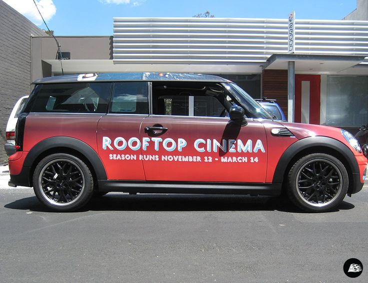 roof wrap, graphic roof, rooftop cinemas, gradient vehicle wrap
