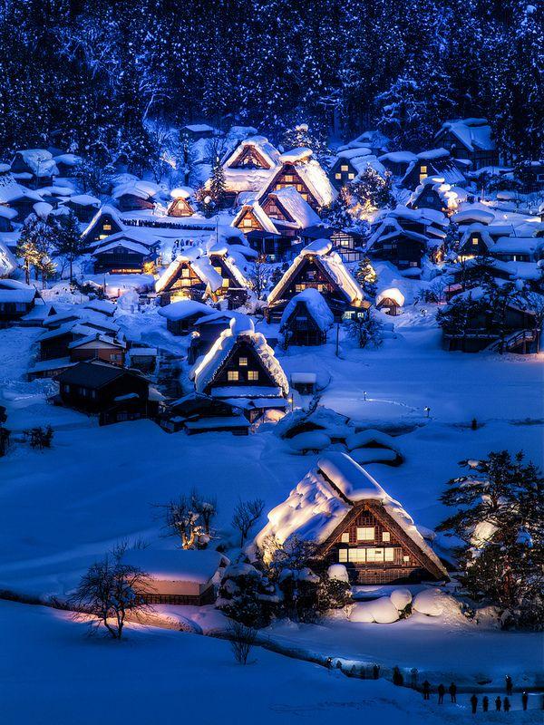 Ice Cream Village - Historic Villages of Shirakawa-go, Gifu, Japan