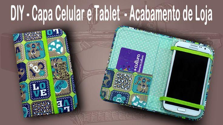 Capinha para Celular ou Tablet - Case - Porta Celular ou Tablet - Patchwork