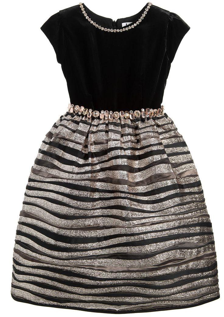 ALALOSHA: VOGUE ENFANTS: Must Have of the Day: Royal Lesy girls black & gold dresses for girls