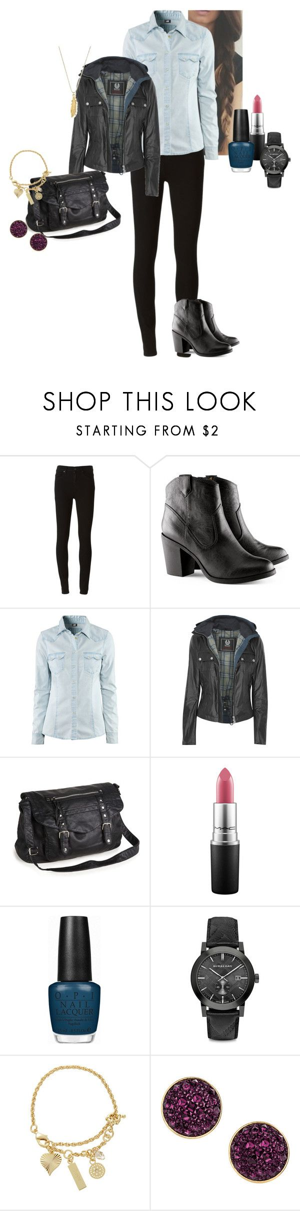"""""""Roxanne """"Rox"""" Lara Walsh - Réussir ou mourir (S02E06)"""" by katlayden ❤ liked on Polyvore featuring Paige Denim, H&M, Belstaff, Aéropostale, MAC Cosmetics, OPI, Burberry, LK Designs and ChloBo"""