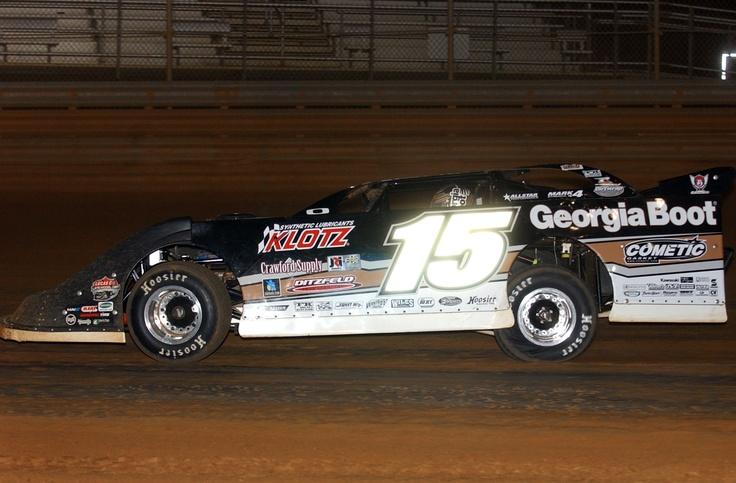 Jonathan Davenport turns laps during a Lucas Oil Late Model Dirt Series event at Virginia Motor Speedway. Photo credit: Rick Schwallie