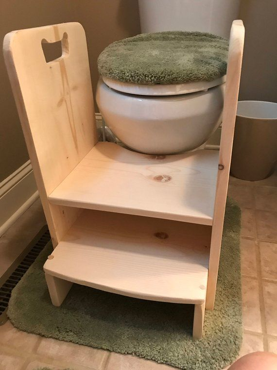 Brilliant Get Up And Go Potty Helper Two Step Stool Has Handles For Dailytribune Chair Design For Home Dailytribuneorg