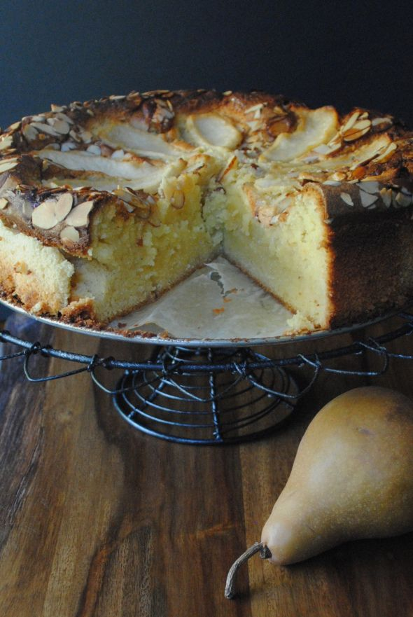 ALMOST LIKE CHEESECAKE, AND SO GOOD WITH THE HINT OF ALMOND. GREAT IN WINTER MONTHS! LOVE YOU!   Almond Pear Cake