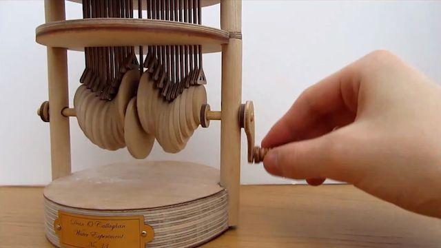 Cet automate reproduit l'onde de mouvement d'une goutte d'