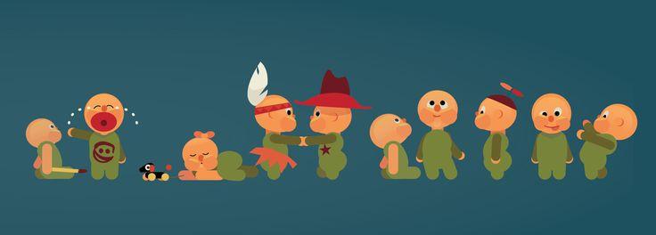 #Characters #klippoglim #vector  Trondheim Kommune, childcare,