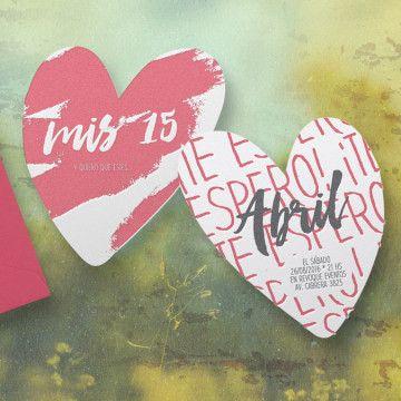 Buena Prensa | Invitaciones Cumple 15 | Corazón #invitaciones #mis15 #misquince #quinceañera #misquinceinvitaciones #invitations #sweet16 #sweetsixteen #letterpress #invitations #letterpressinvitations
