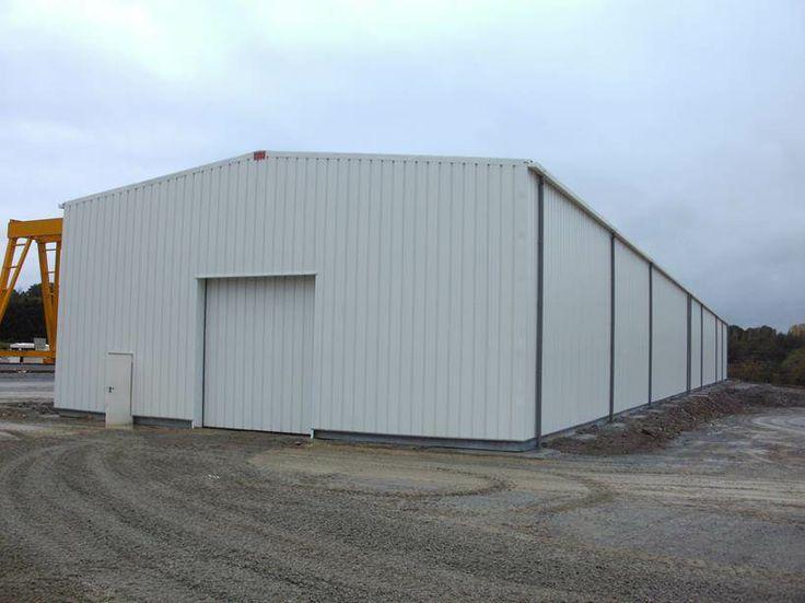 Bâtiment temporaire par Legoupil Industrie. #Entrepôt de stockage de 800m² en location, #bâtiment #temporaire.