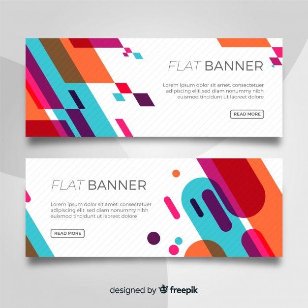 Download Flat Banner Template For Free Banner Design Inspiration Banner Template Design Website Banner Design
