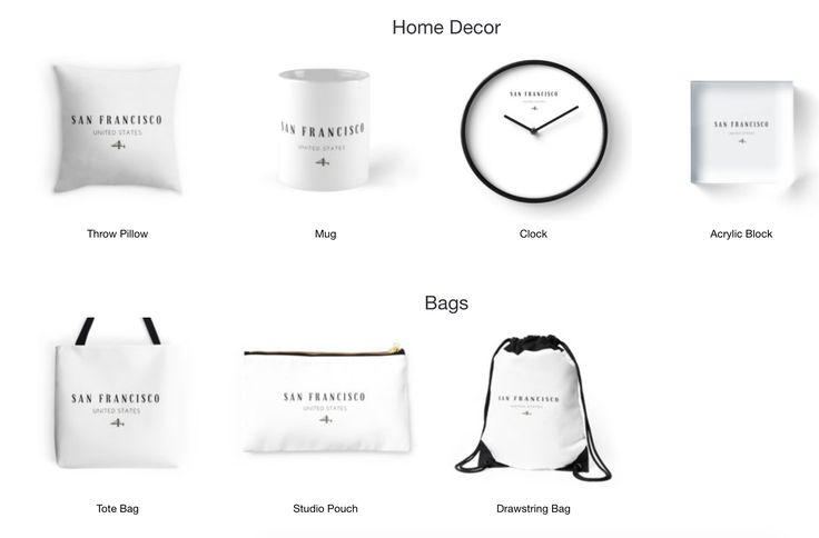 San Francisco!- Home Decor, Bags, T-shirts and more. Available on Redbubble now.