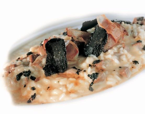 Risotto ai fegatelli di anatra, tartufo nero e Grana Padano. Per la ricetta completa cliccate sull'immagine!