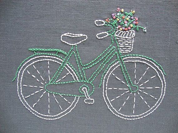 Designed and packaged by iHeartStitchArt, this bicycle embroidery pattern comes…