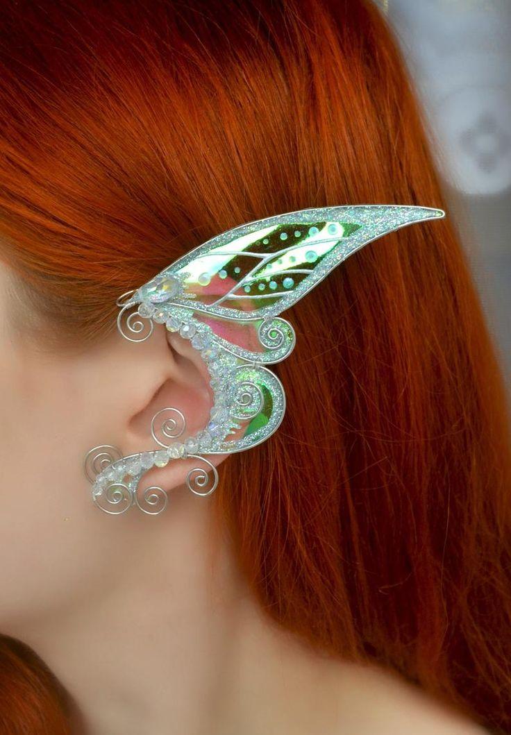Fairy ear cuffs no piercing, Elf ears, Elven ear wraps in