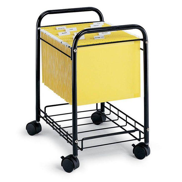 mobile deskside filing cart 5224bl durable
