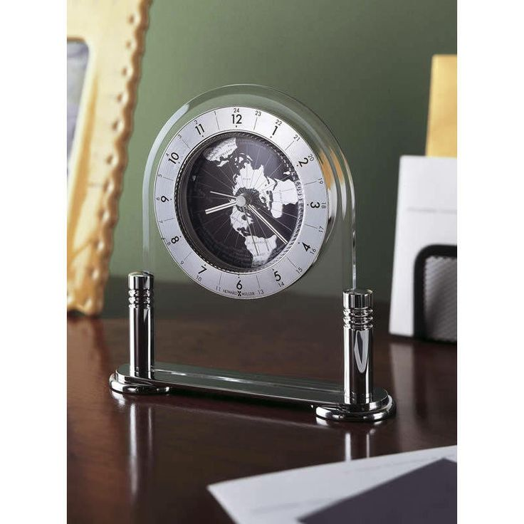 Howard Miller Tabletop Clocks And Alarm Clocks 645346 Discoverer. The  Revolving World Map Is Accented