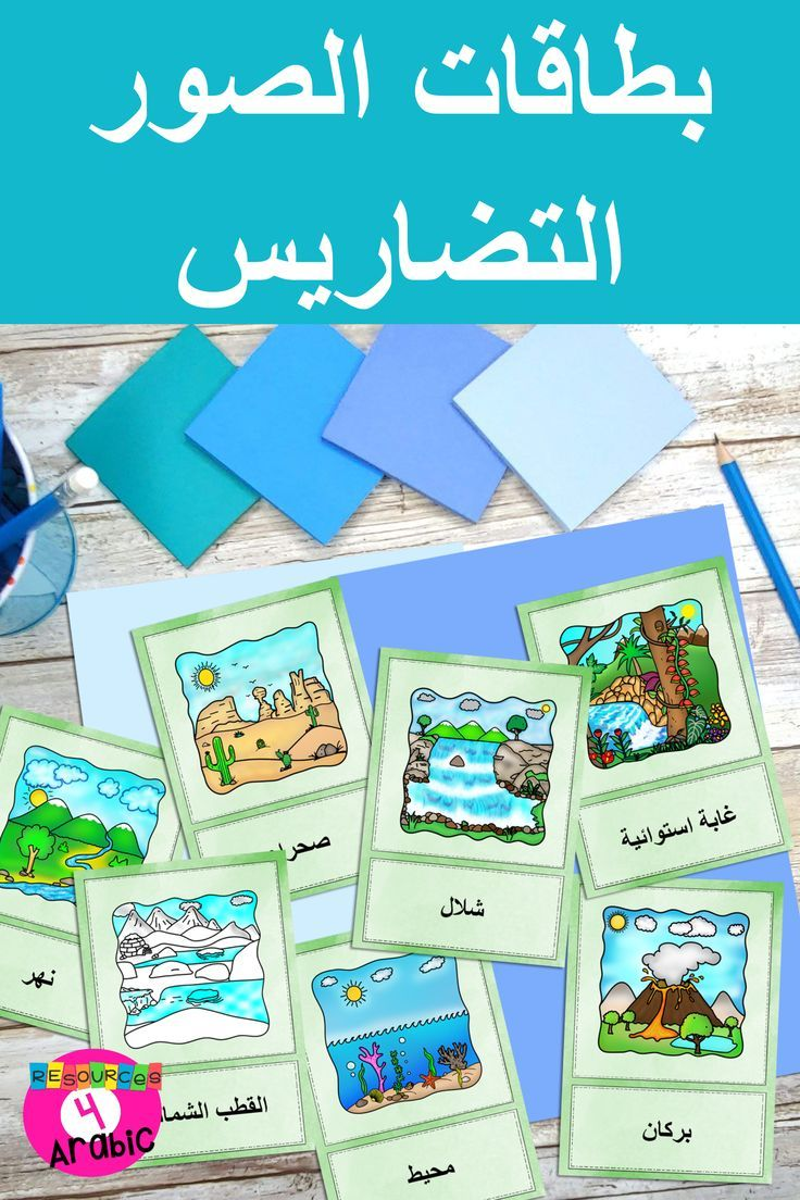 Arabic Landforms Teach Arabic With Picture Cards Vocabulary Cards Teach Arabic Landforms Vocabulary