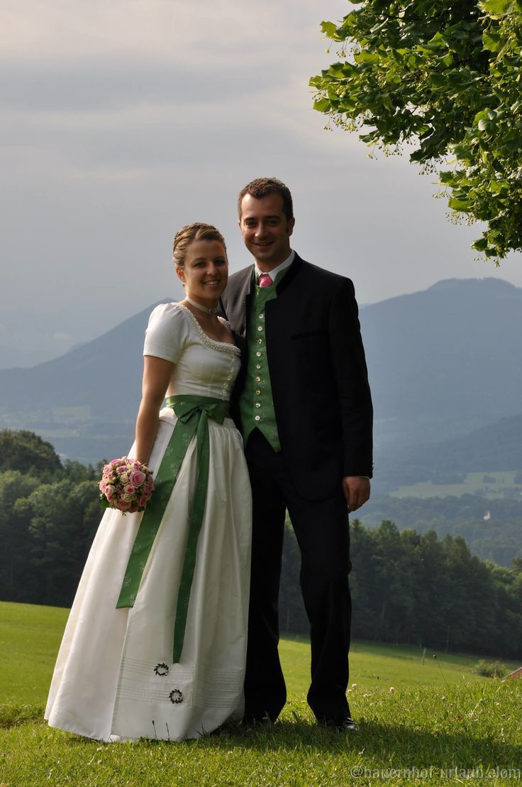 Bavarian Wedding Couple In Oberland
