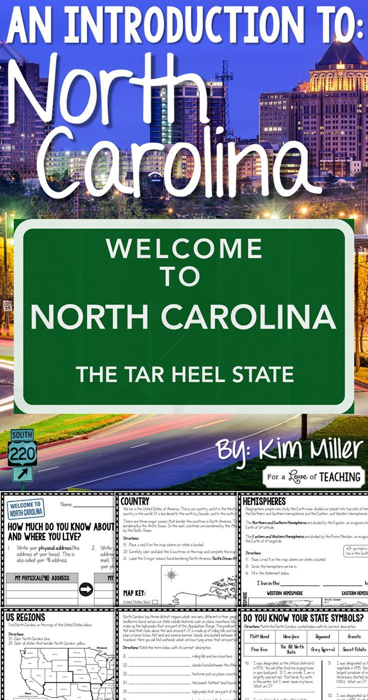 North Carolina: An Introduction to the Tar Heel State - can be used to introduce students to North Carolina and their location in regards to where they live. It can also be used as a review or a test.