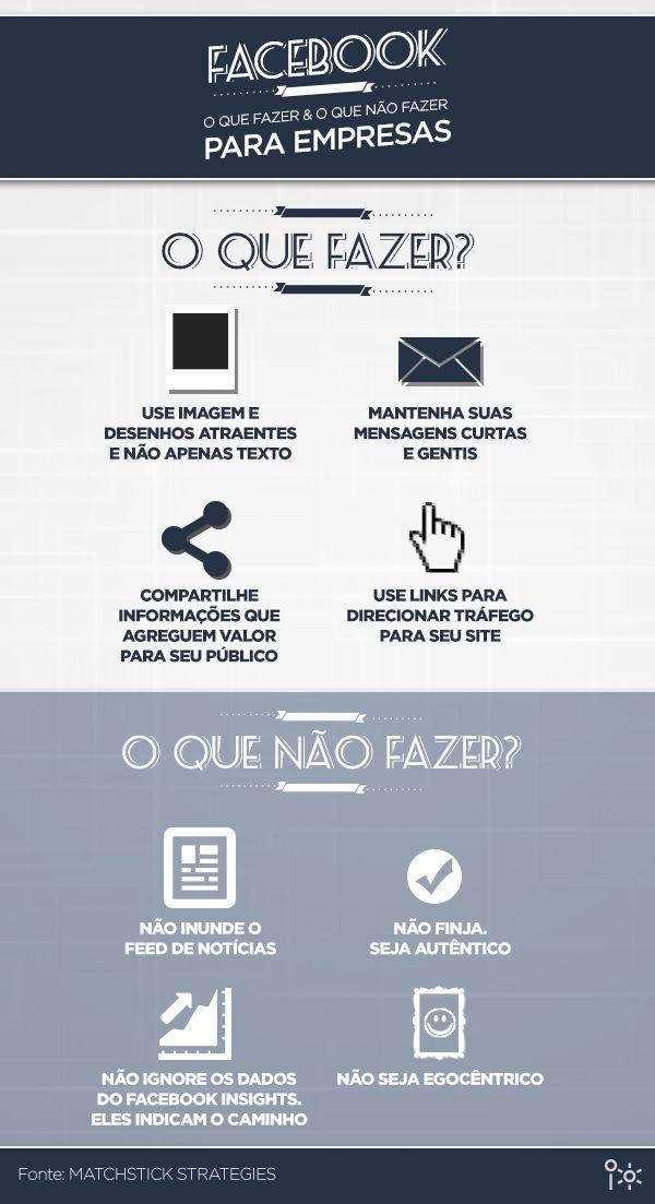 #Infográfico: Facebook - O que FAZER e o que NÃO FAZER para empresas