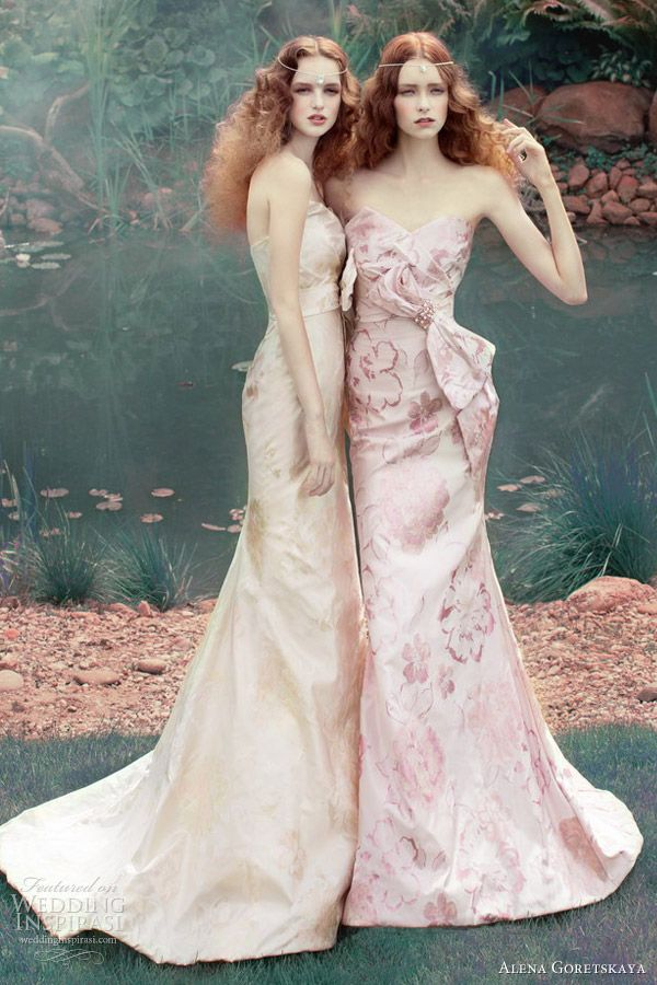 alena goretskaya wedding dresses2013 vanda printed bridal gowns