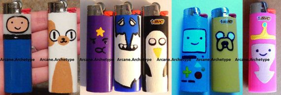 Adventure Time Custom Bic Lighters!!! ArcaneArchetype, $6.10