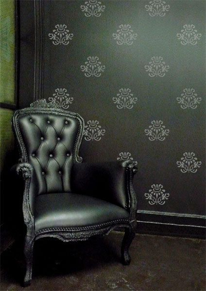 Victorian Damask Wall Decals Floral Damask Wall by LivingWall