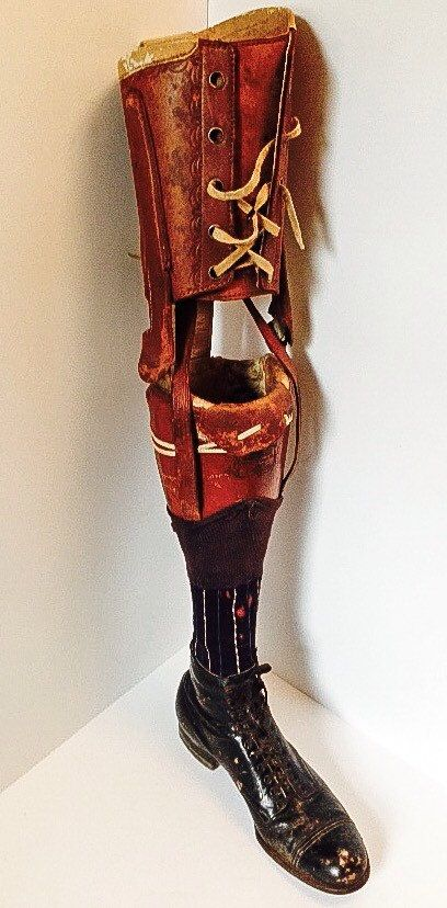 Vintage 1920's-30's prosthetic leg by MarcelVintage on Etsy