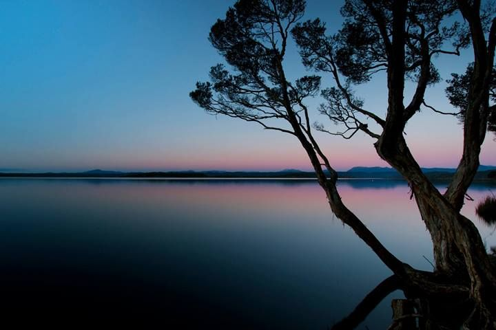 Macquarie Harbour at sunset