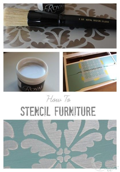 How to Stencil Furniture   Finding Silver Pennies