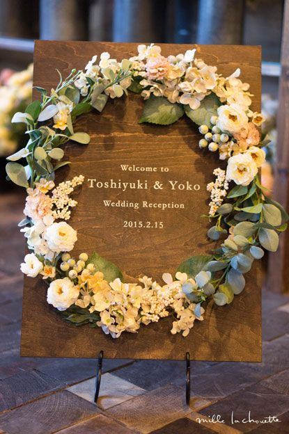 Simple Elegant Flower Decor ♥ #elegant #wedding #party #flower #wreath #decor <3