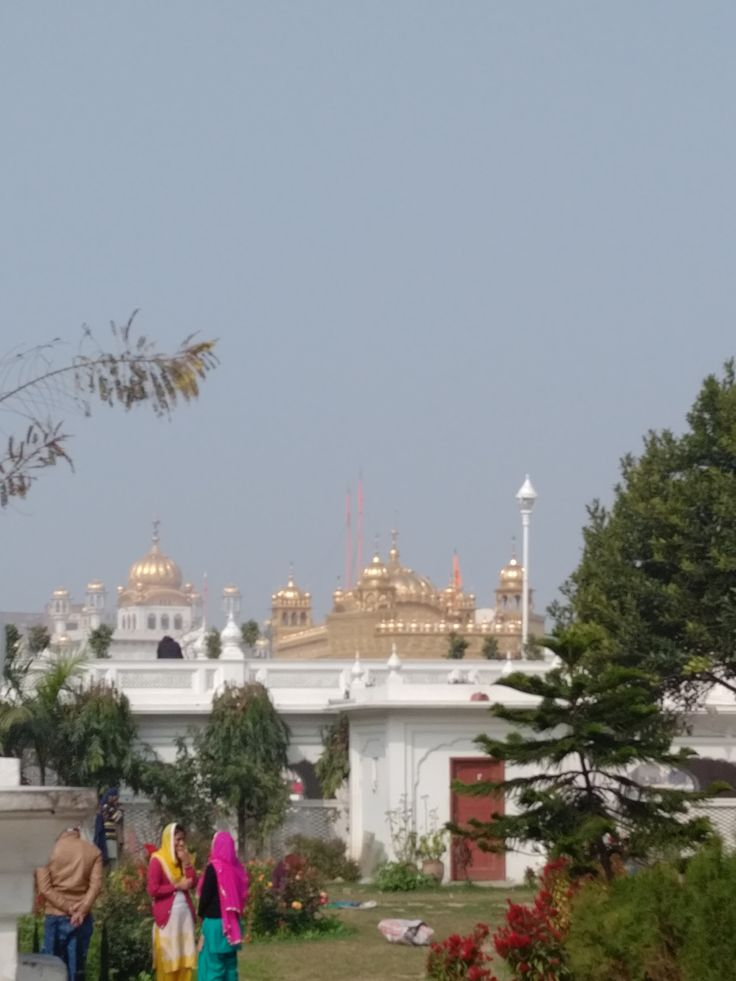 Beautiful shot of the outskirts of Golden Temple.