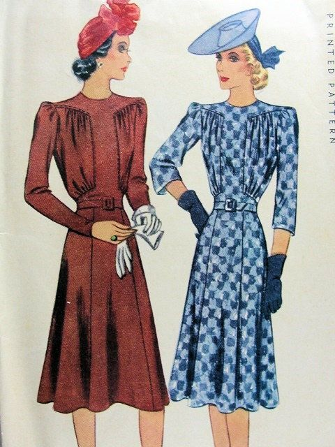 1940 McCall 3862 Dress Pattern Ladies Frock by WEAREVINTAGESEWING, $65.00