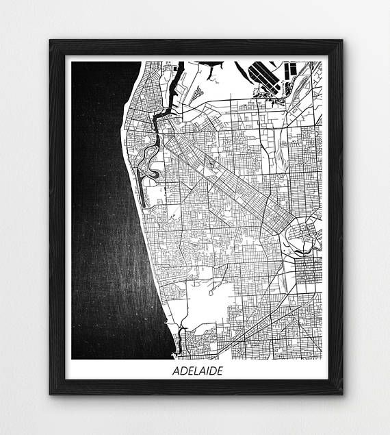 Adelaide Map Print, Adelaide Poster Print, Adelaide