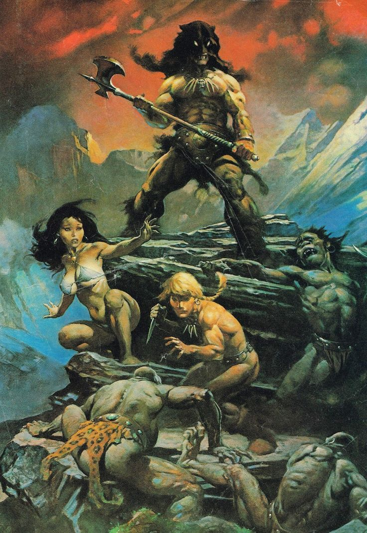 Cap'n's Comics: Fire And Ice by Frank Frazetta