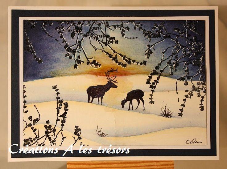 Créations A les trésors: Coucher de soleil hivernal