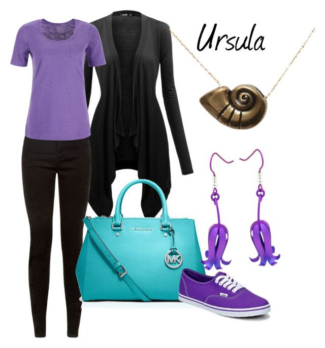 """Ursula disneybound"" by laniocracy ❤ liked on Polyvore featuring Dash, Disney, MICHAEL Michael Kors, Vans, Prism Design and ursula"