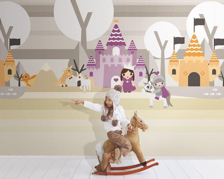 Ταπετσαρία τοίχου ψηφιακής εκτύπωσης για παιδικό δωμάτιο που προσαρμόζεται στην διάσταση του χώρου σας, του οίκου LondonArt. Θα τη βρείτε στο Moketino Living (Κηφισίας 228, Κηφισιά). / Digital print wallcovering for Kids Collection by LondonArt.