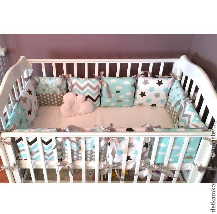Купить Бортики в кроватку - комплект подушек, постельное белье, кроватка малыша, бортики в кроватку, детская