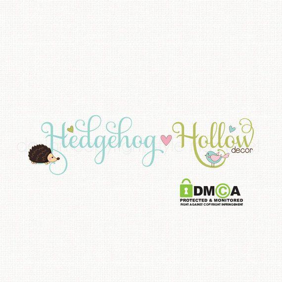 hedgehog logo design woodland logo design by stylemesweetdesign