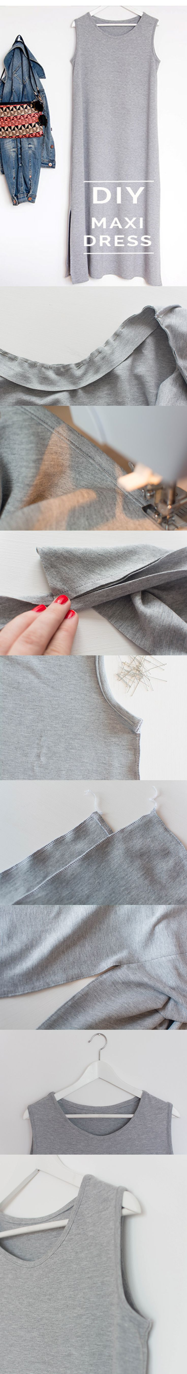 maxidress ^ DIY ^ howto ^ tutorial ^ grey ^ jerseydress