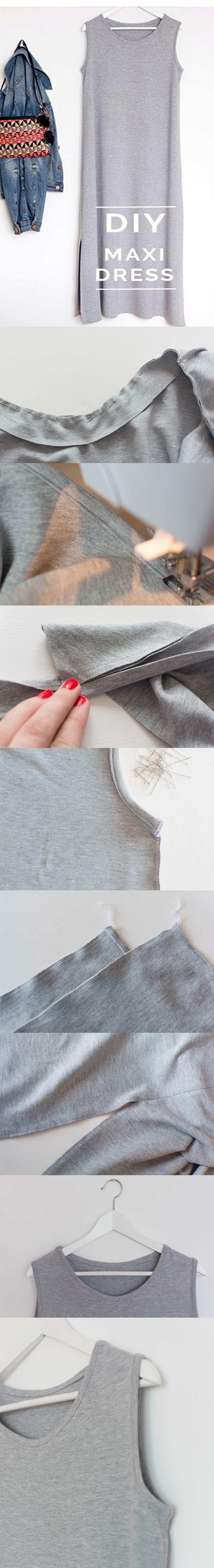 maxidress ^ DIY ^ howto ^ tutorial ^ grey ^ jerseydress