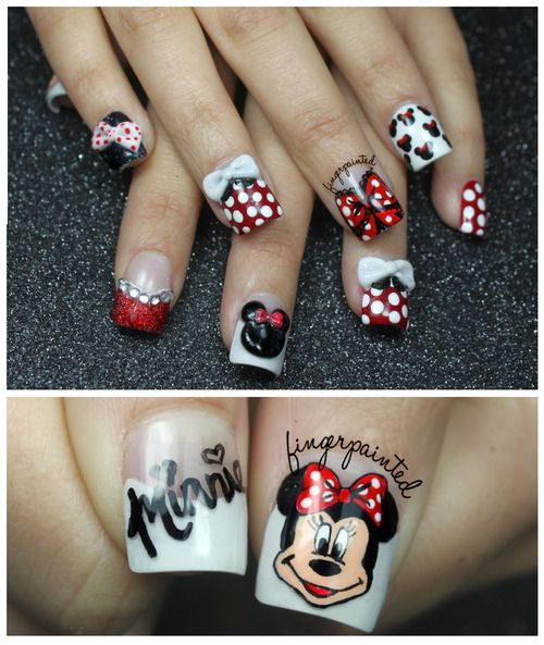 minnie mouse nails | Tumblr