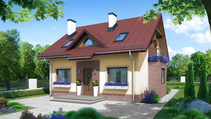 Fajny mały projekt domu http://pracownia-projekty.dom.pl/za_dom_w_montanie.htm
